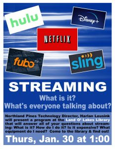 Streaming Workshop @ Land O Lakes Public Library