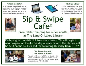 CANCELLED - Sip & Swipe @ Land O Lakes Public Library