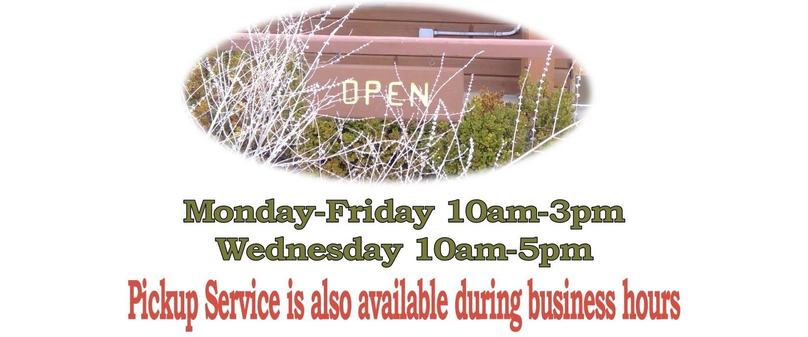 Open hours 5-17-21